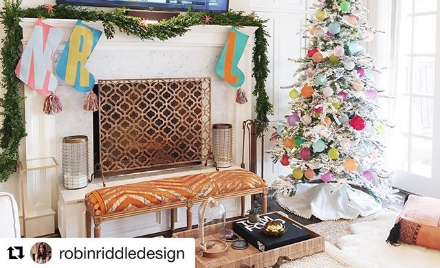 Thank you @robinriddledesign for making Red Llama Studio stockings a part of your beautiful mantle! -------- #Repost @robinriddledesign with @repostapp ・・・ We absolutely loved creating this colorful Christmas! 🎄Santa won't be able to leave this happy place🎅🏻😍🎅🏻#santaselves #foxandriddle #christmas #holidaydecor #colorfulchristmas #dallasdesign #hohoho