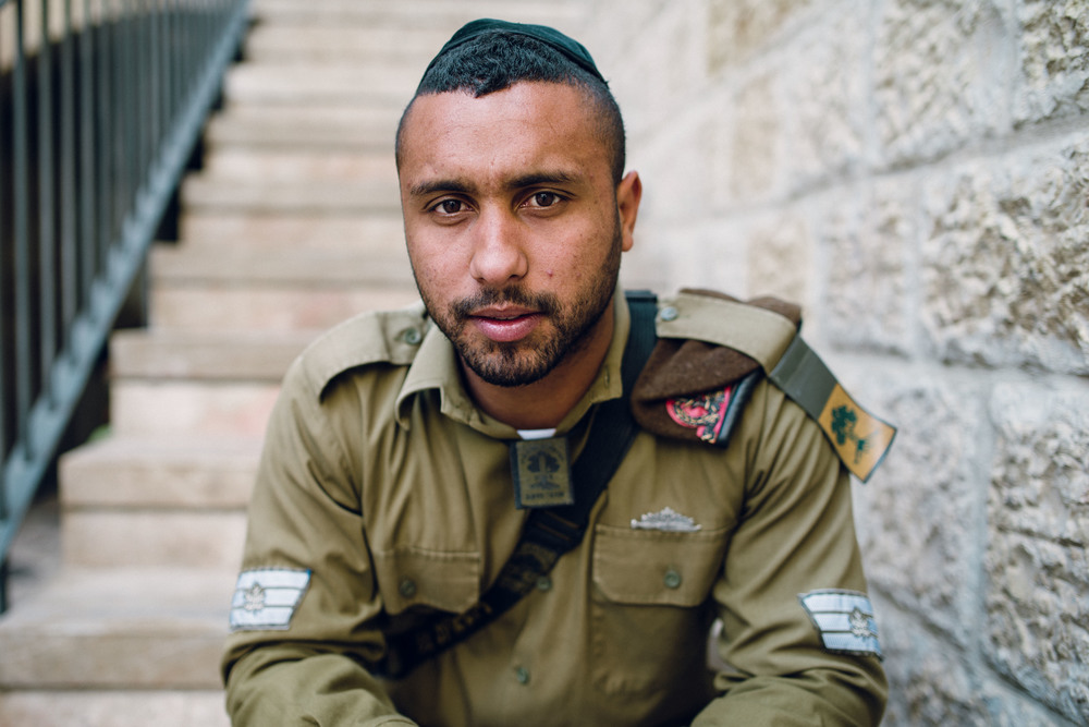 IDF soldier in Jerusalem, Israel