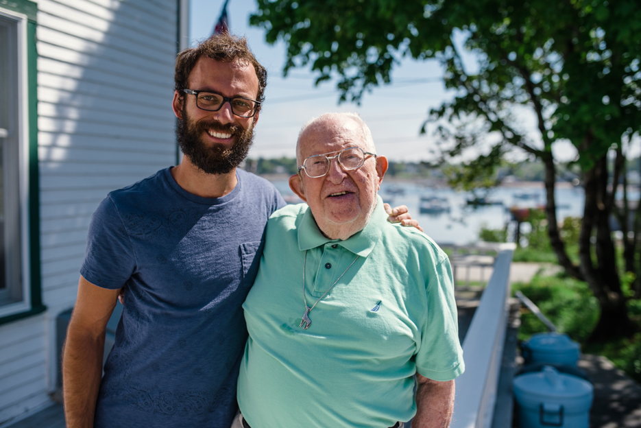 The man behind the home, lighthouse, and bringing me to Maine: my almost-95-years-young grandfather.