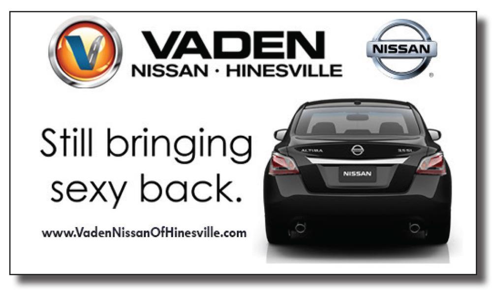 Vaden Nissan Hinesville Still Bringing Sexy back