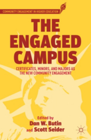 """As a respondent chapter within the volume, """"Disciplining Higher Education for Community Engagement"""" argued that the conventional form of service-learning courses must be augmented through a sustained, scaffolded experience tied to both curricular and cocurricular engagement."""