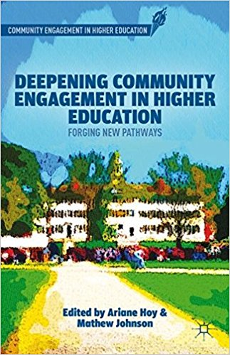 Deepening Community Engagement in Higher Education discusses how colleges and universities can increase the engagement of their students, faculty, and institutional resources in their communities. This volume features strategies to make civic engagement deep, pervasive, integrated, and developmental – qualities that must be demonstrated by campuses for successfully gaining the Carnegie Community Engagement Classification.
