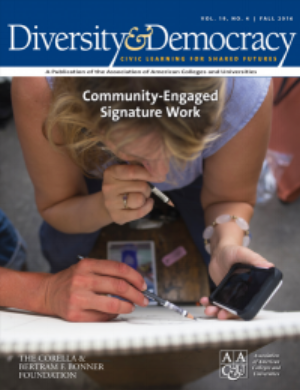 The Bonner Foundation worked in partnership with the Association of American Colleges and Universities to produce an issue of AAC&U's quarterly journal. The issue introduced the aspiration of Community Engaged Signature Work, a culminating integrative learning experience for undergraduates, but suggesting it could have a real-world civic impact.