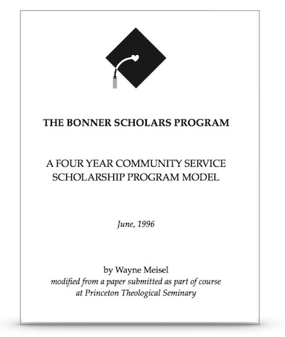 This 1996 paper by Wayne Meisel conceived the 5 E's Bonner Developmental Model.    Click    to download.