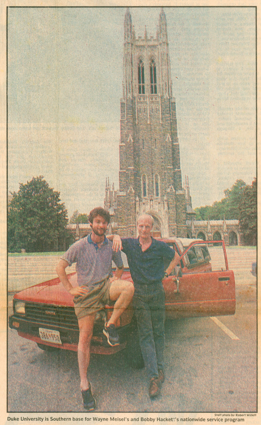 Wayne Meisel and Bobby Hackett profiled in this 1987  News & Observer  article at Duke University, COOL's Southern base.