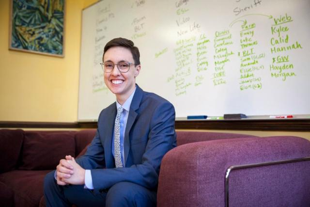 James Jurgensen, C'18, plays a key role in building the effectiveness of the OCE, helping develop curriculum for other Bonner Leaders and collecting data that can be used for assessment of the whole program.