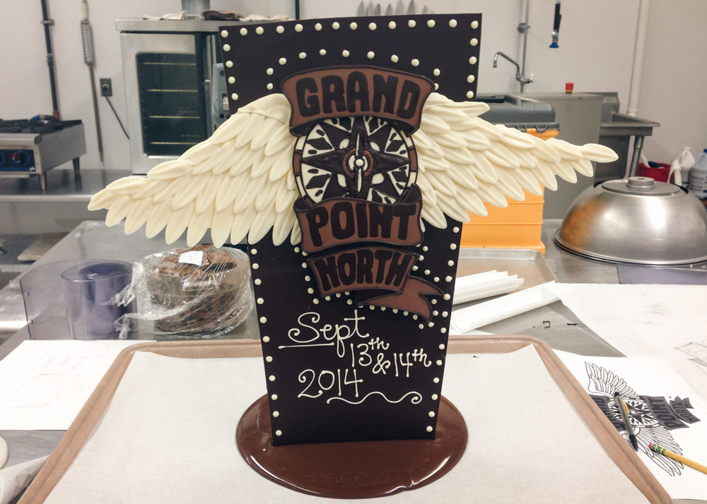 2014 Grand Point North logo in chocolate for Grace Potter and the Nocturnals