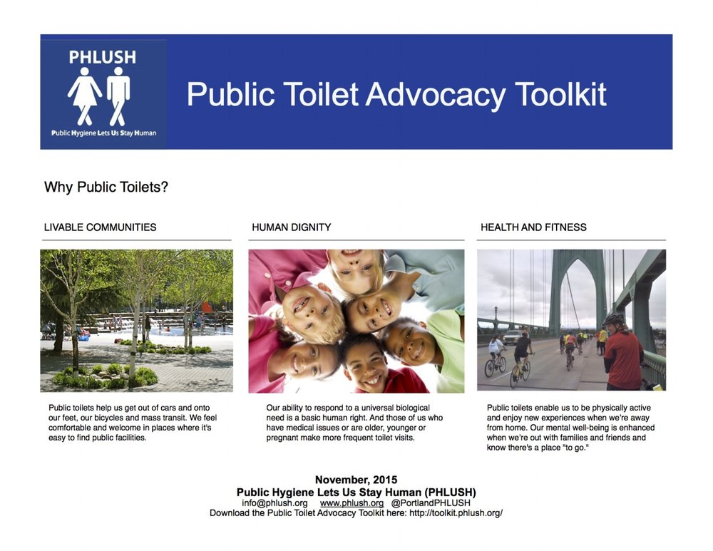 Title Page for PHLUSH Public Toilet Toolkit