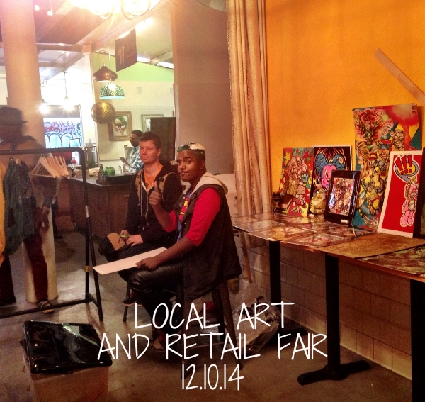 We welcomed in 5 local artists and retailers to sell their goods at a holiday fair. We were excited to be joined by San Francycle, RS94109, the loin, Hospitality House Community Arts Program, Root Division, Suru Clothing, and Sugabus Media.Root Divisionision.org  (415)863-7668