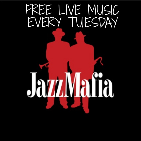 Free live music every Tuesday from 5:30-7:30pm. We are thrilled to host the incredible Jazz Mafia the first and third Tuesday of every month. We have other amazing local musicians rotate through, so check the calendar for an updated listing of upcoming shows.