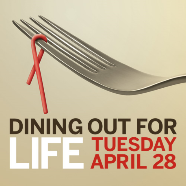 The Hall participated in the AIDS Foundation's annual Dining Out For Life, donating a percentage of profits to the Foundation and its efforts to end AIDS.