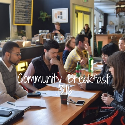 This month's project update and community breakfast focused on public art, and brought together community members to discuss what they'd like to see represented in a public art piece.