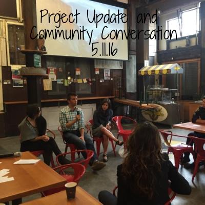 We host monthly project updates to keep people informed of the progress of the  1028 Market Street development. We also host a community conversation each month; this month's featured a forum on the state of planning and development in San Francisco.