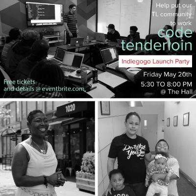 Code Tenderloin is placing Tenderloin residents in jobs faster than we can count. They have an indiegogo campaign running to help support their efforts and we hosted their launch party.