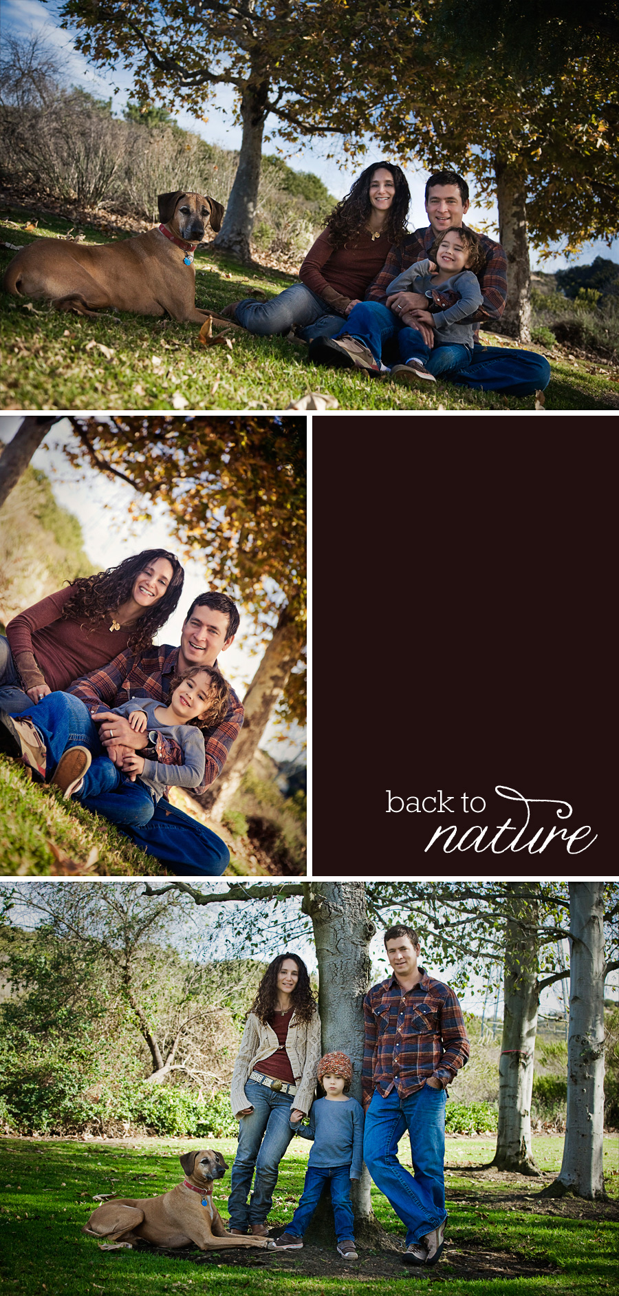 family portraits taken in a beautiful natural environment by Orange County photographer Gillian Crane