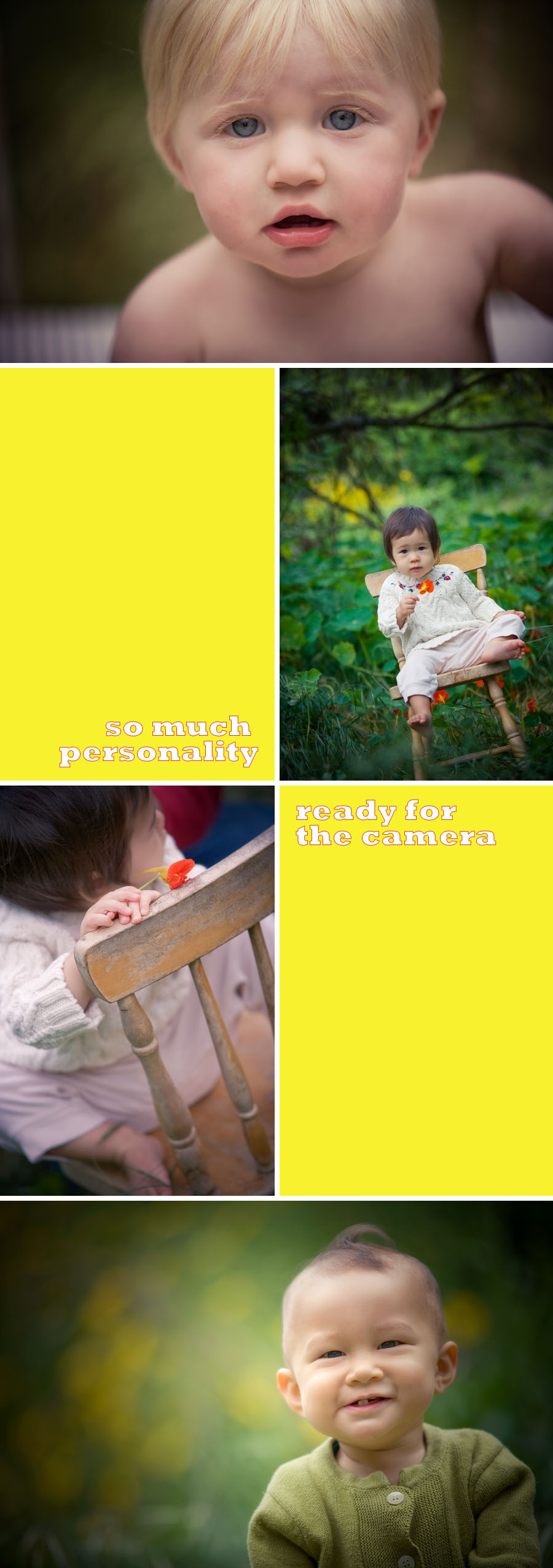 Orange County creative baby and toddler portraits