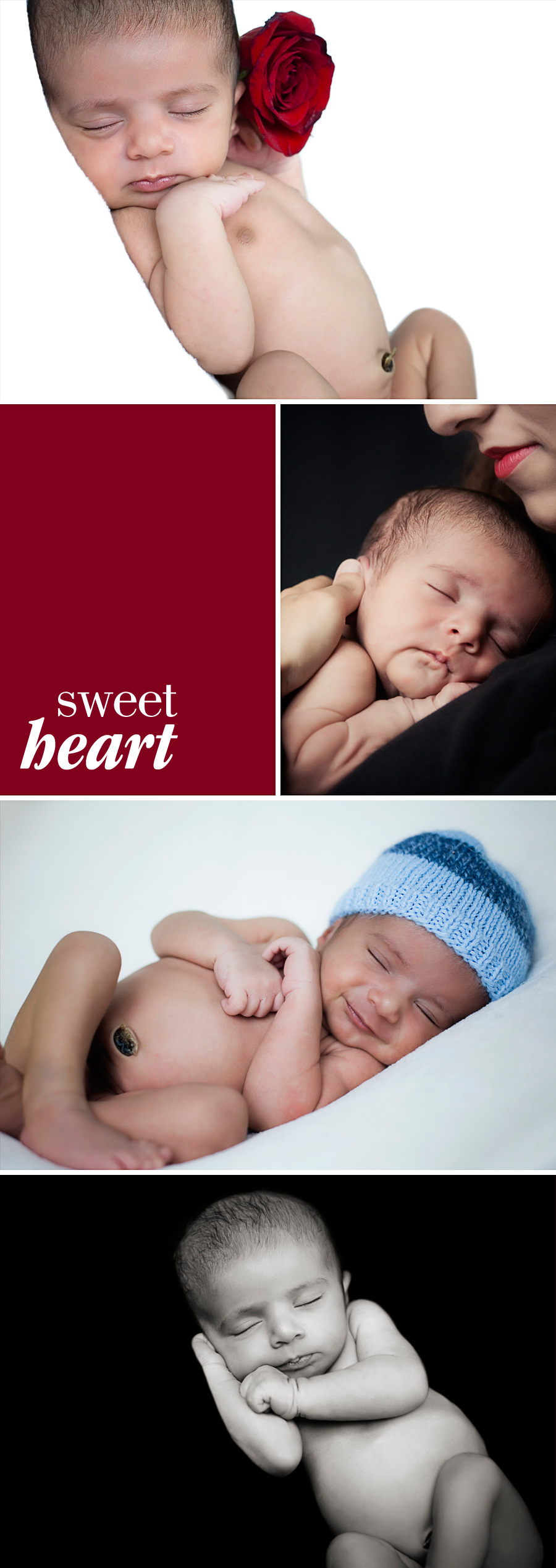 portraits of a beautiful sleeping baby - classic newborn portraits by Orange County photographer Gillian Crane