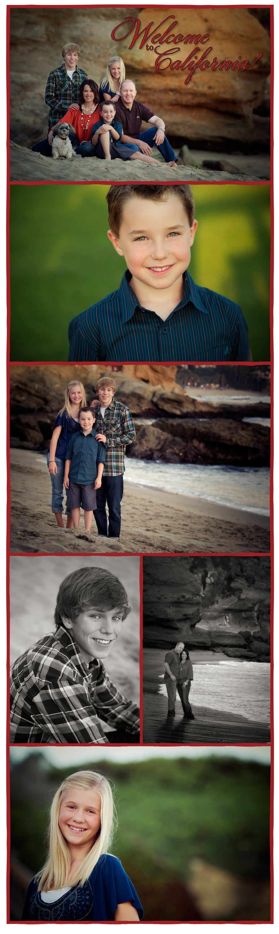 family holiday portrait session in Laguna Beach
