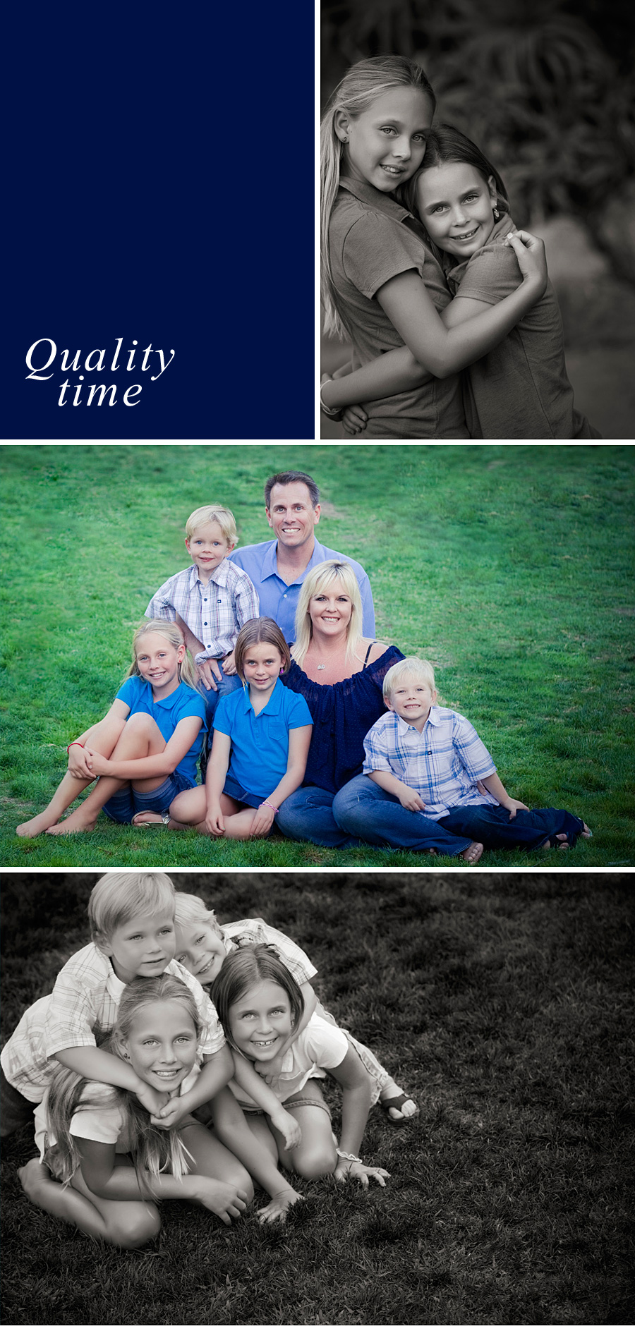 Orange County casual, formal, and candid family portraits