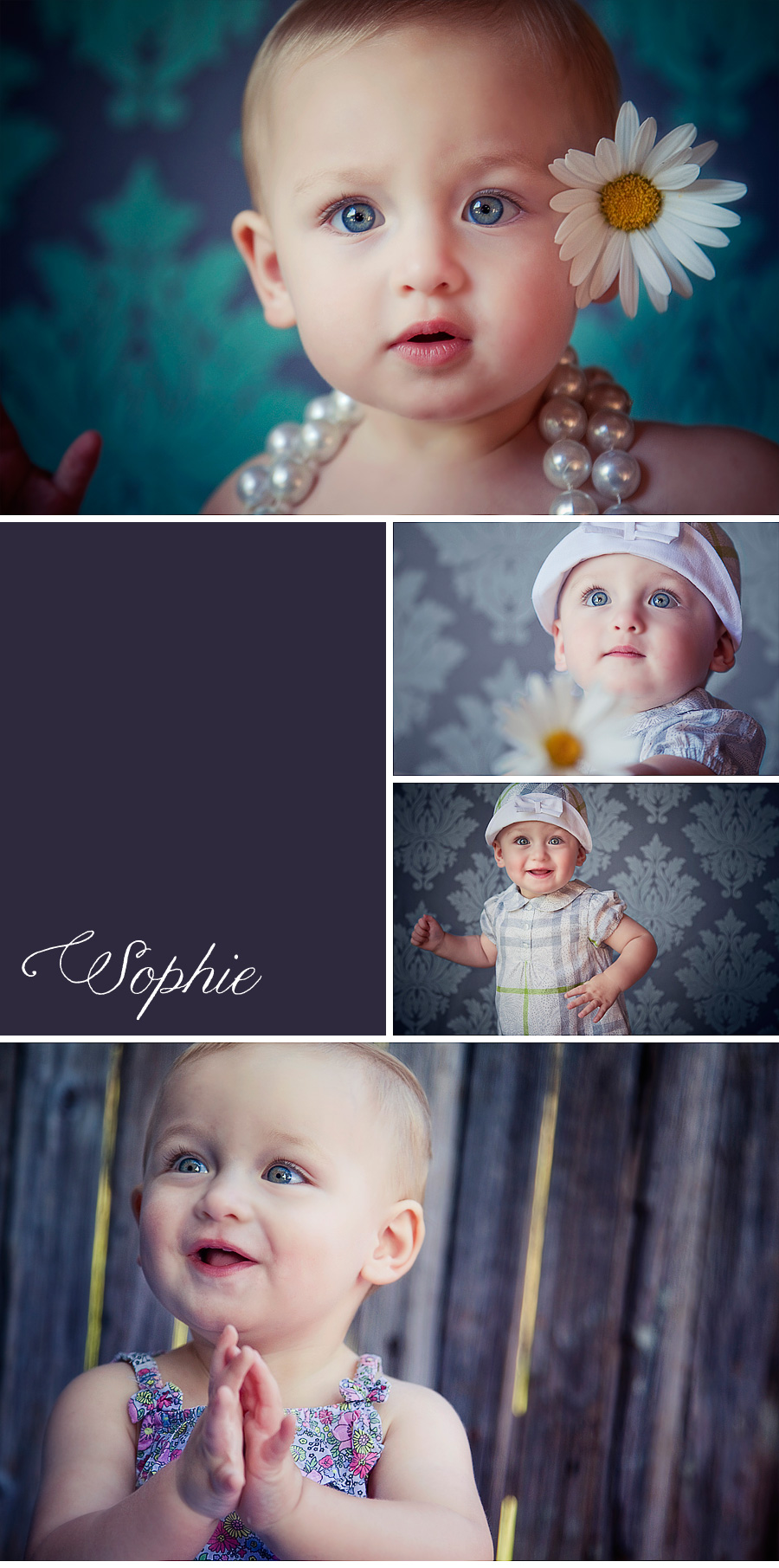 Laguna Beach, Orange County creative studio baby portrait photographs