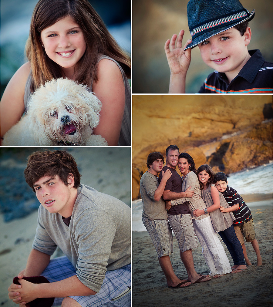 holiday family portraiture by Orange County photographer Gillian Crane