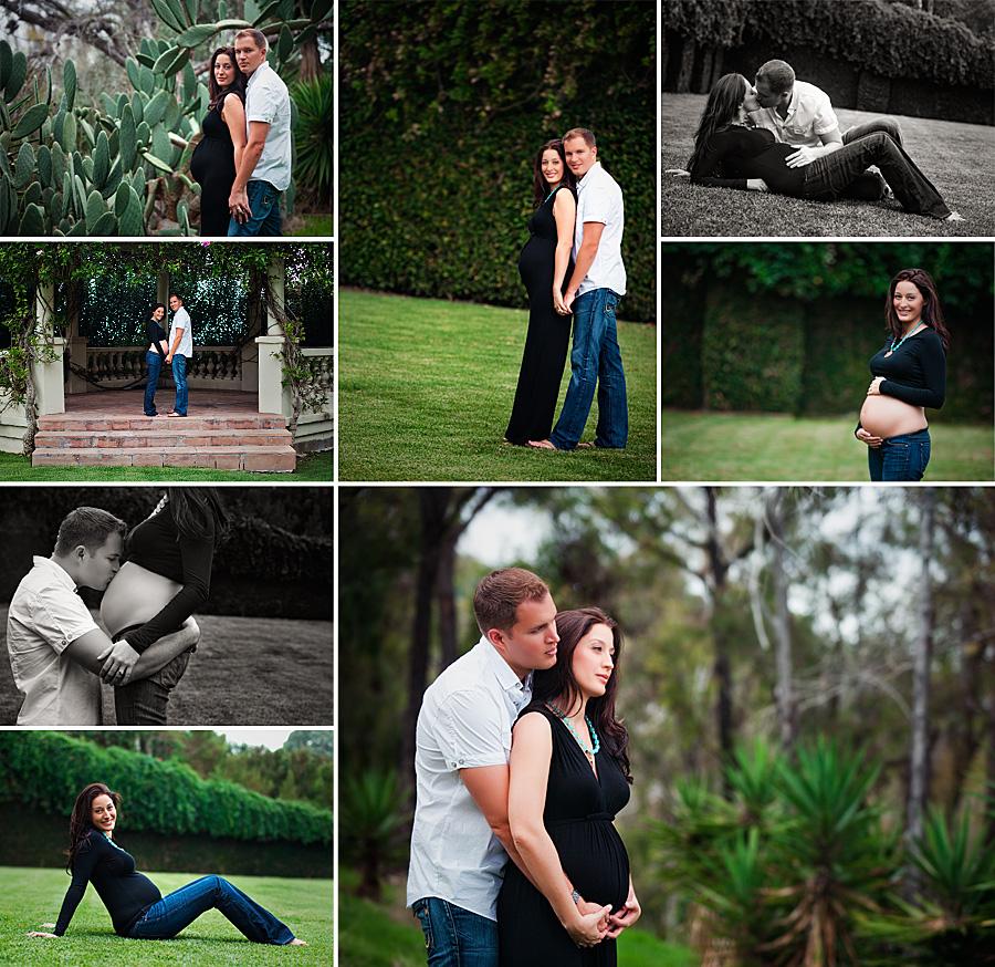 maternity portrait photos taken on location in Palos Verdes Estates