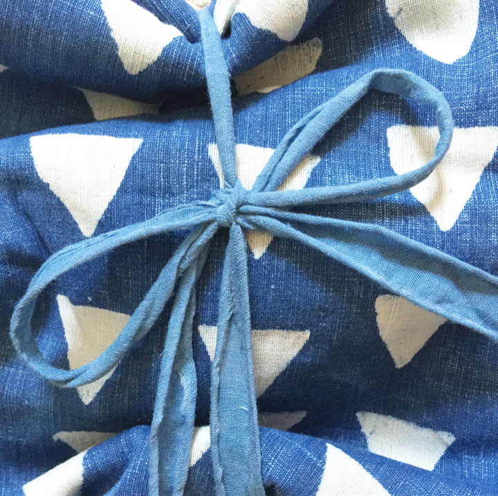 New muslin ribbon in indigo...mud-resist indigo cotton khadi cotton