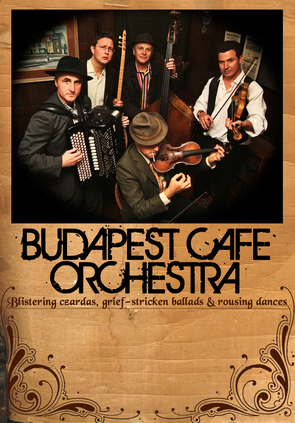 Budapest Cafe Orchestra poster (and flyer front)