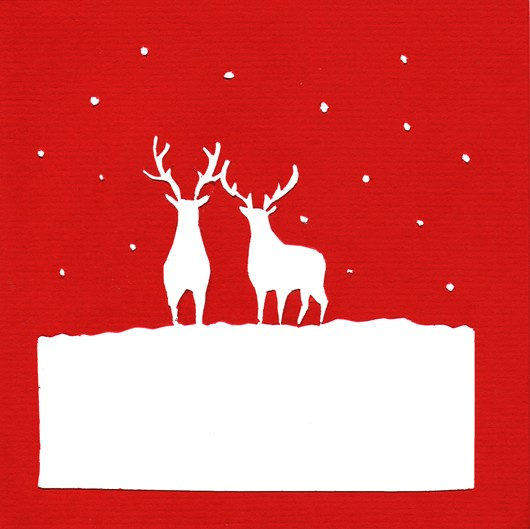 Christmas cutout series - Stags