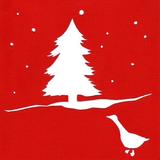 Christmas cutout series - Duck
