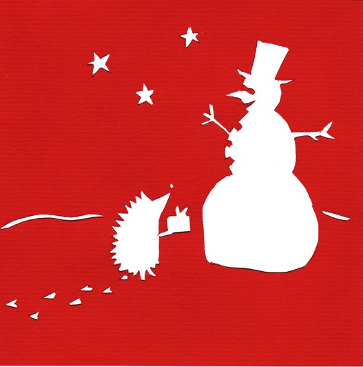 Christmas cutout series - Snowman & Hedgehog