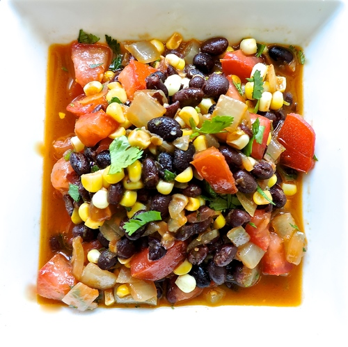 Corn, Black Bean and Tomato Salad
