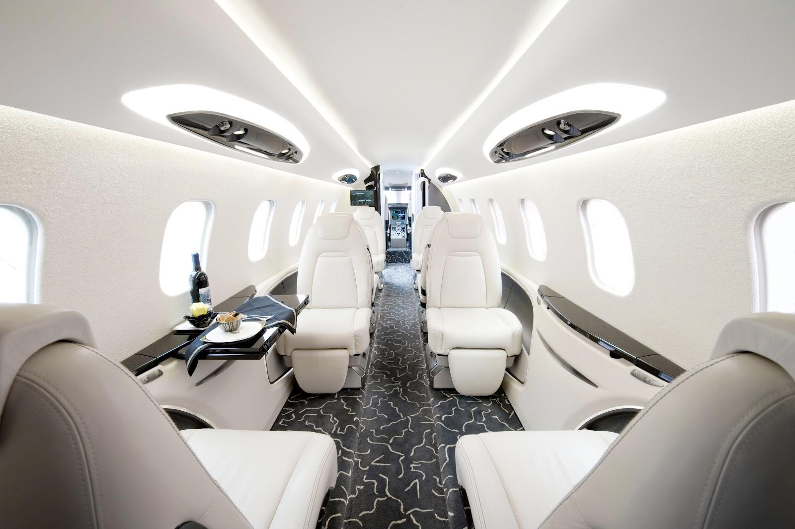 cabin-interior-of-private-jet-bombardier-learjet-85-
