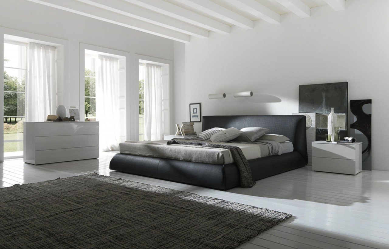 black bed with white furniture view gallery l