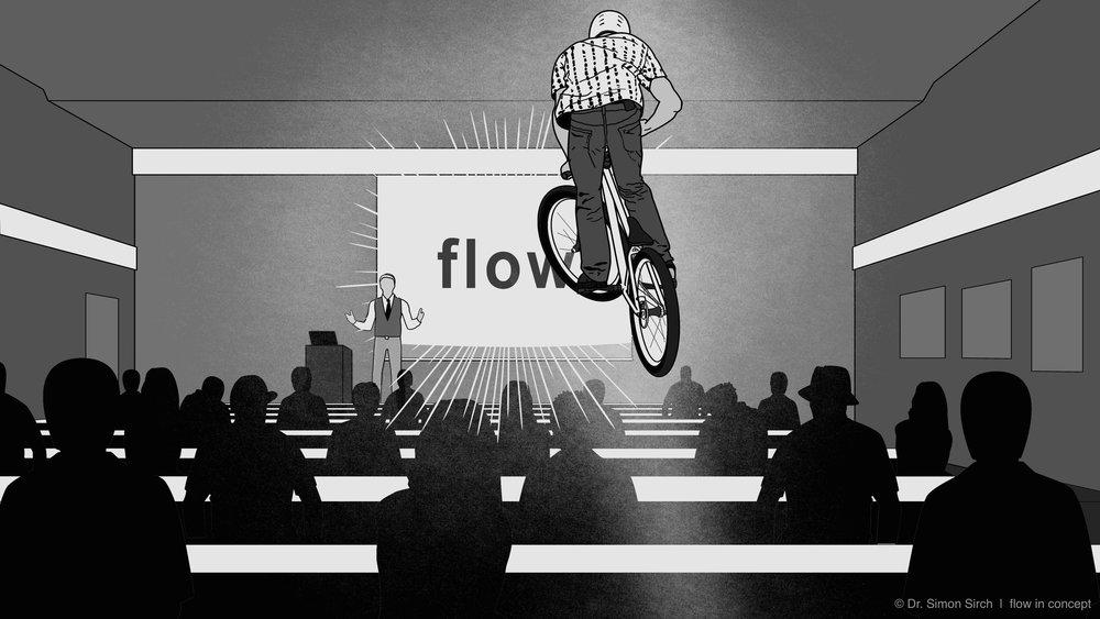 Dr. Simon Sirch über seinen Erstkontakt mit dem flow-Begriff: als Text und Audio im  Blog von flow in concept