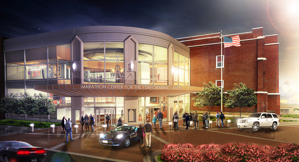 www.rcmarchitects.com - vision - marathon center for the preforming arts mcpa