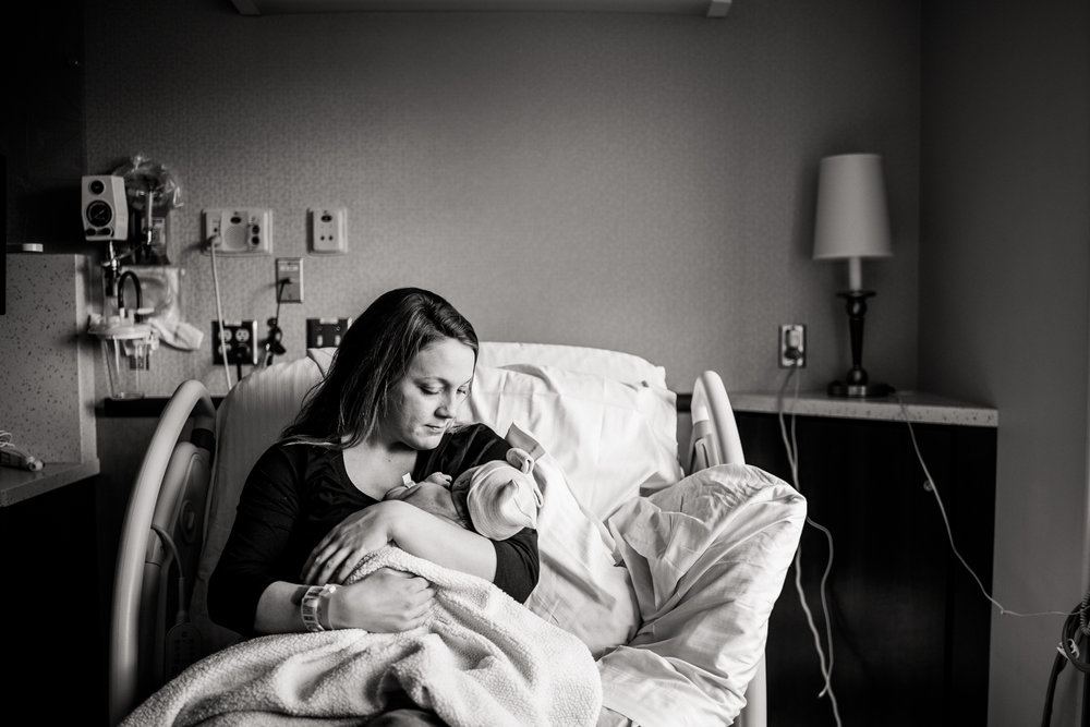 newborn photography at the hospital