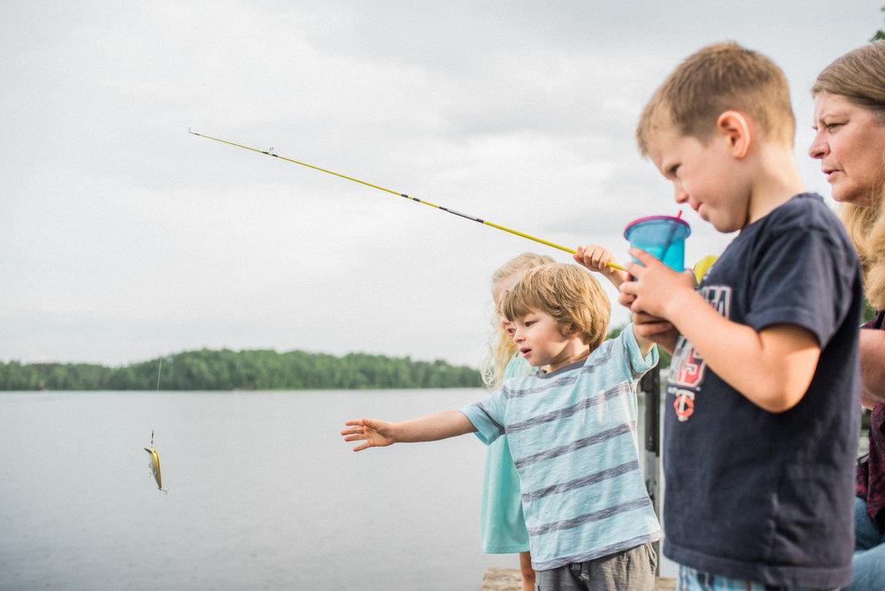 fishing in Moose Lake