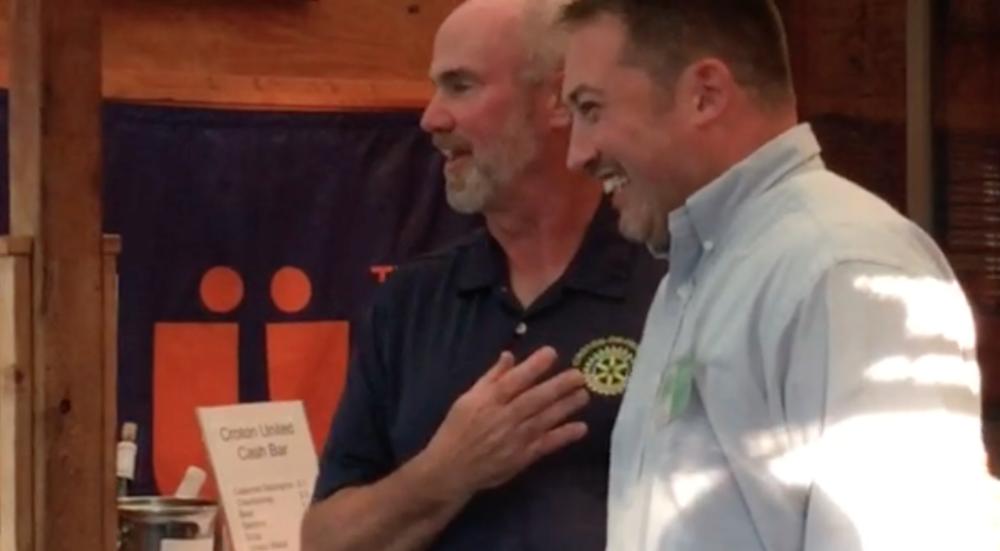 Mayor Greg Schmidt introduces Dan McNatty