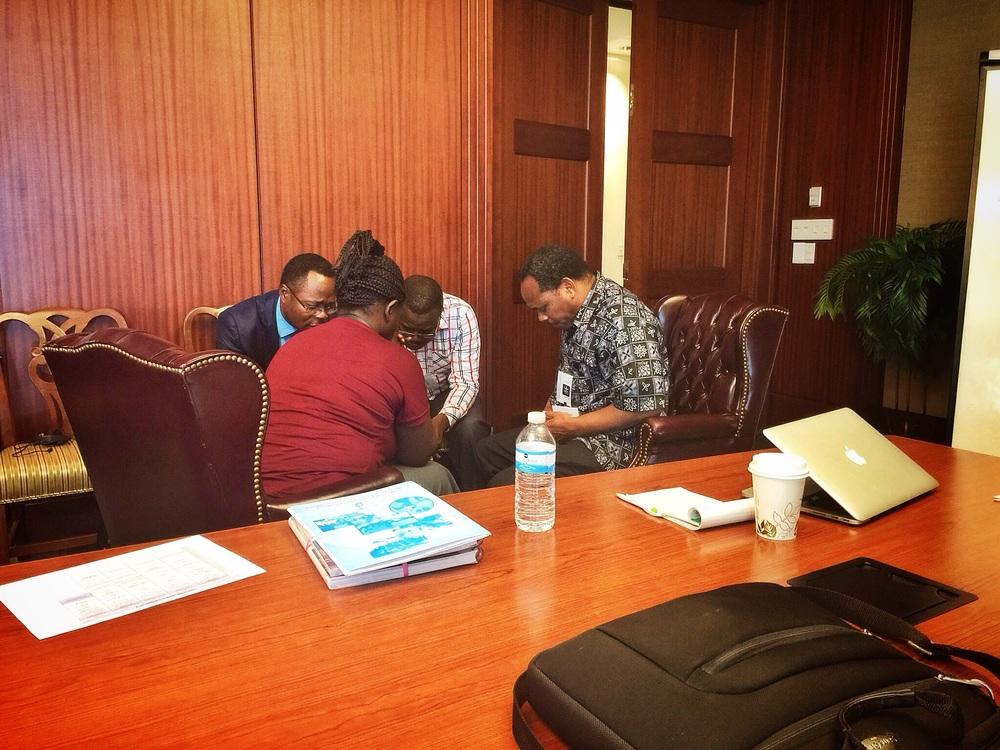 Prayer before the meetings begin