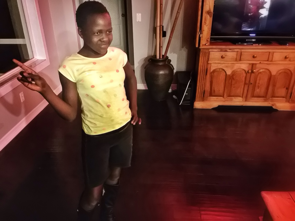 Her new boots inspired her to get her groove on. Her friend party is around the corner and will test mom's sanity throwing abilities with 14 3rd graders on the invite list.