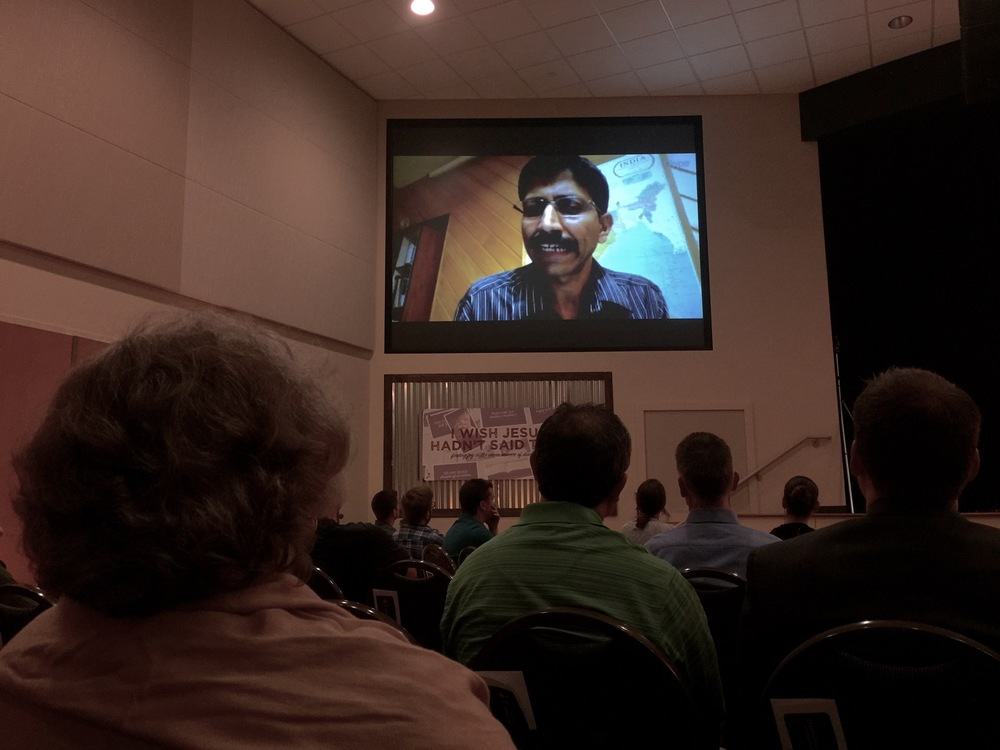 Our Director Jose in the area including Nepal giving us a report at our Worldwide Day of Prayer