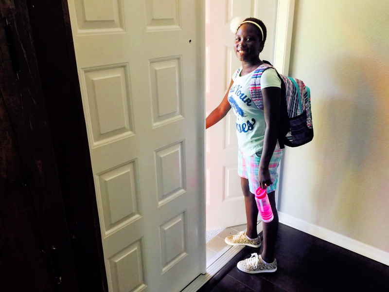 Meseret off to Discovery Middle School (6th grade)