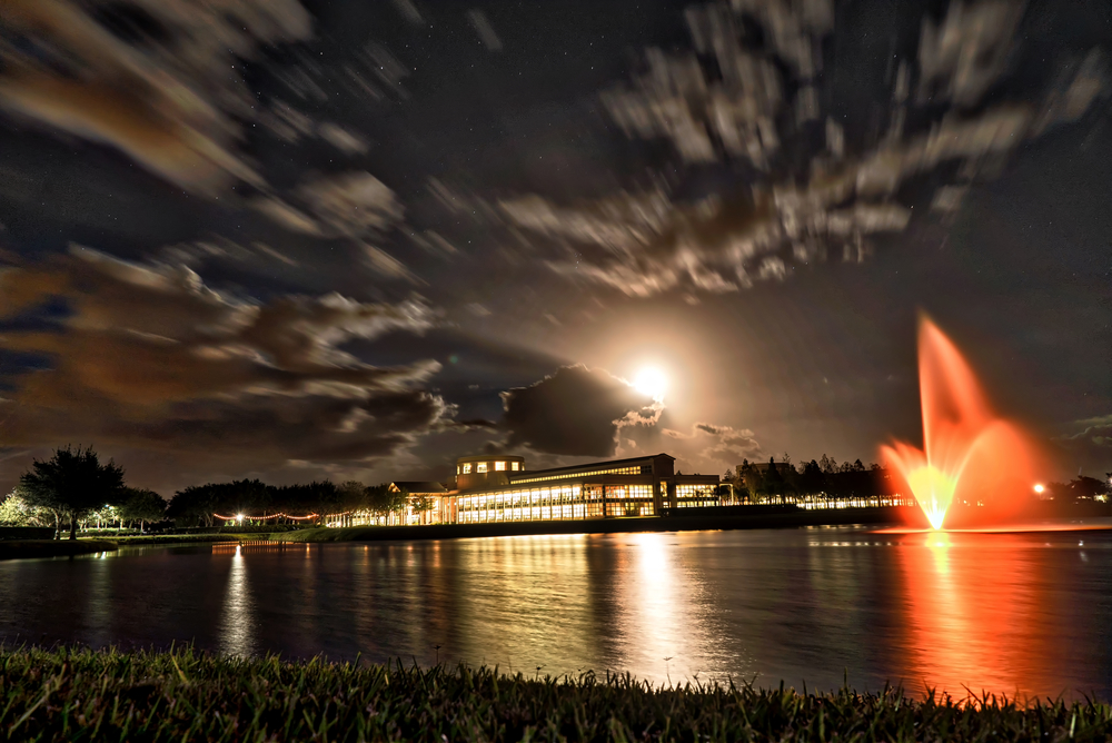 Cru headquarters in Orlando. I took this as I left last night because the moon looked so large.