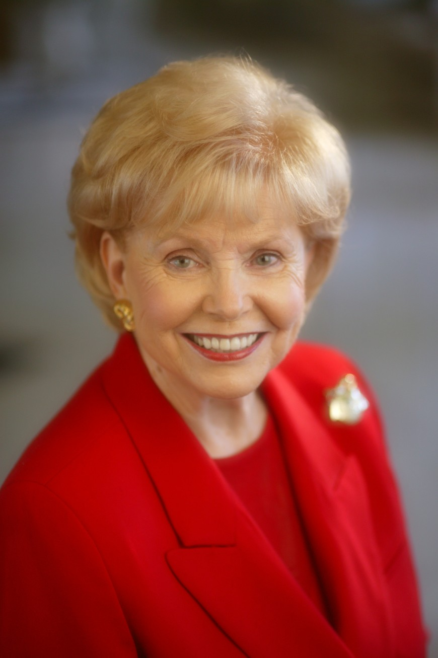 Vonette Bright 1926 - 2015 cofounder of Cru, formally called Campus Crusade for Christ (photo courtesy of Vonette Z. Bright Memorial Newsroom)