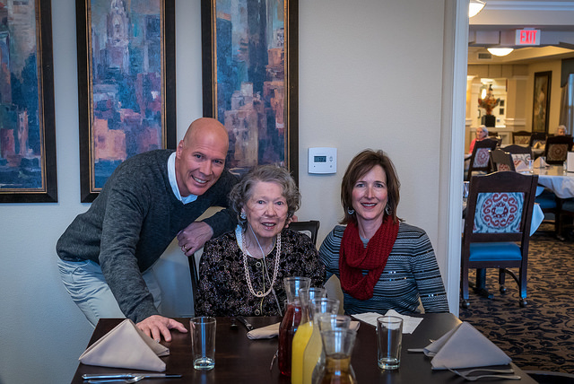 Here I am with my mom and Diane.