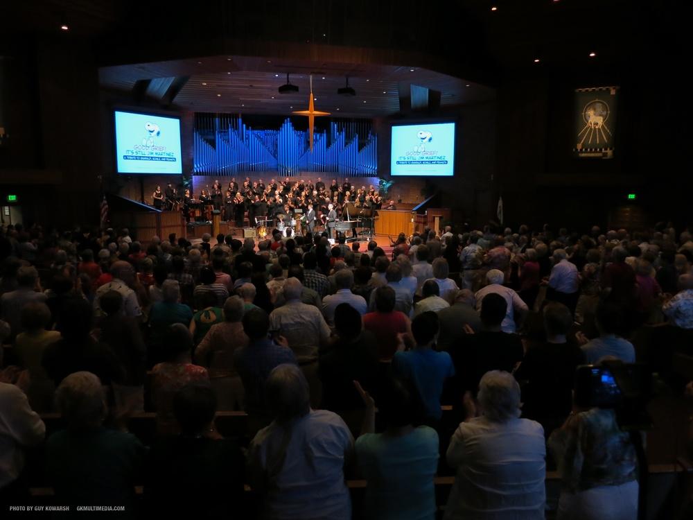 A Fair Oaks Presbyterian Church gathering in the worship center.