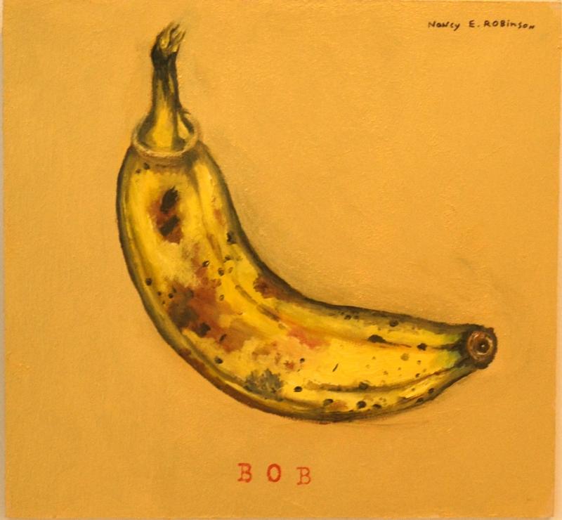 """Bob , 2006, acrylic and metallic paint on wood, 7-1/2"""" x 8"""""""