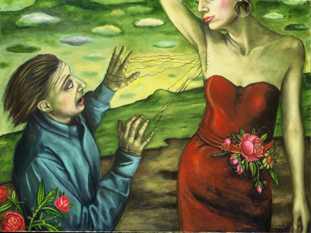 "Fear of Intimacy IV , 2001, oil on canvas, 36"" x 48"""