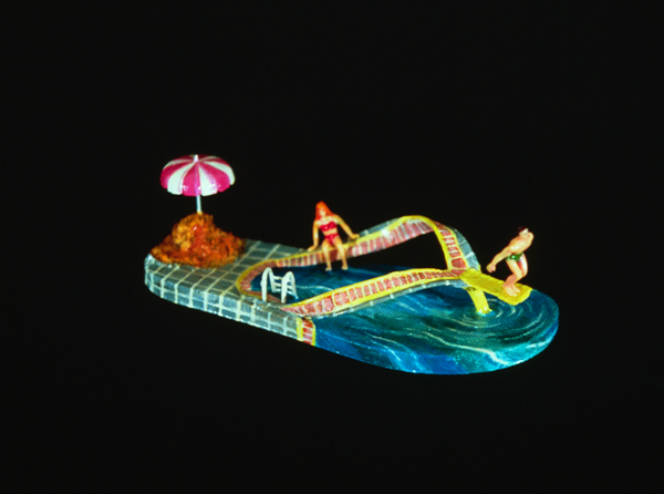 Nancy Robinson,  Vacation Shoe , circa 1991, mixed media sculpture, size 8